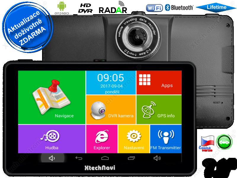 GPS navigace - tablet XtechNavi EU7057XS, 7 0
