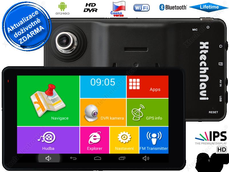 GPS navigace - tablet XtechNavi EUG55AXS, 5 5